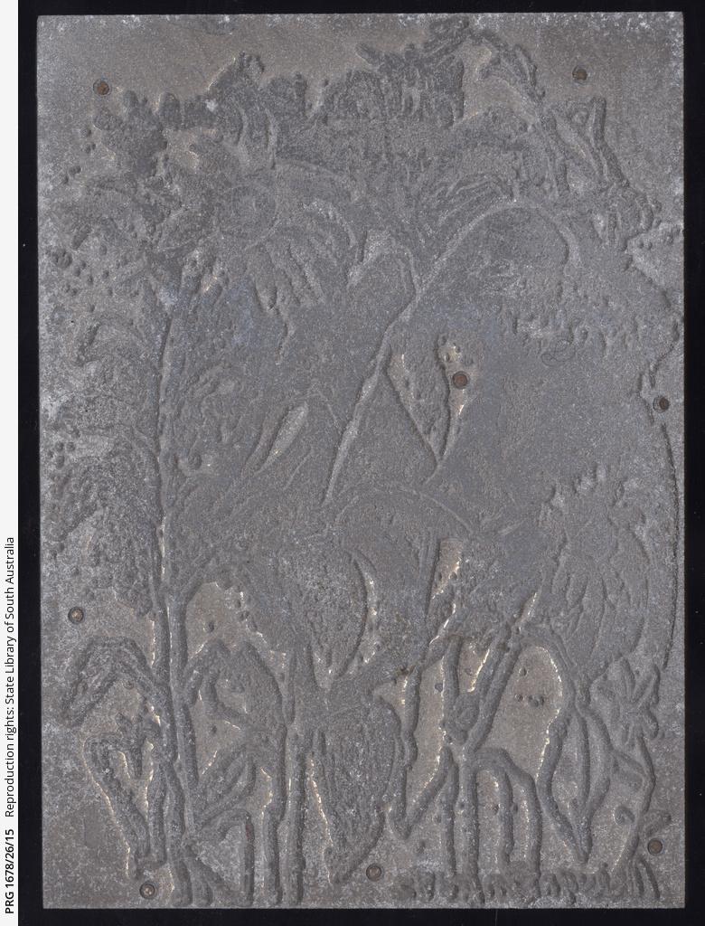 'Sunflowers' printing plate