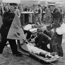 St John's Ambulance Brigade attend a casualty