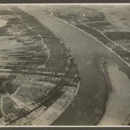 Aerial view of a river near Basra.