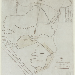 Plan of the South Australian Company's Runs at Lakes Victoria and Albert [cartographic material]