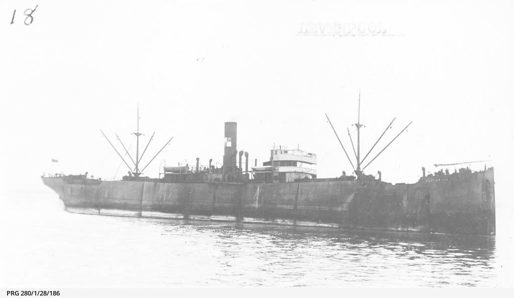 The SS Levenpool anchored off Wallaroo, South Australia