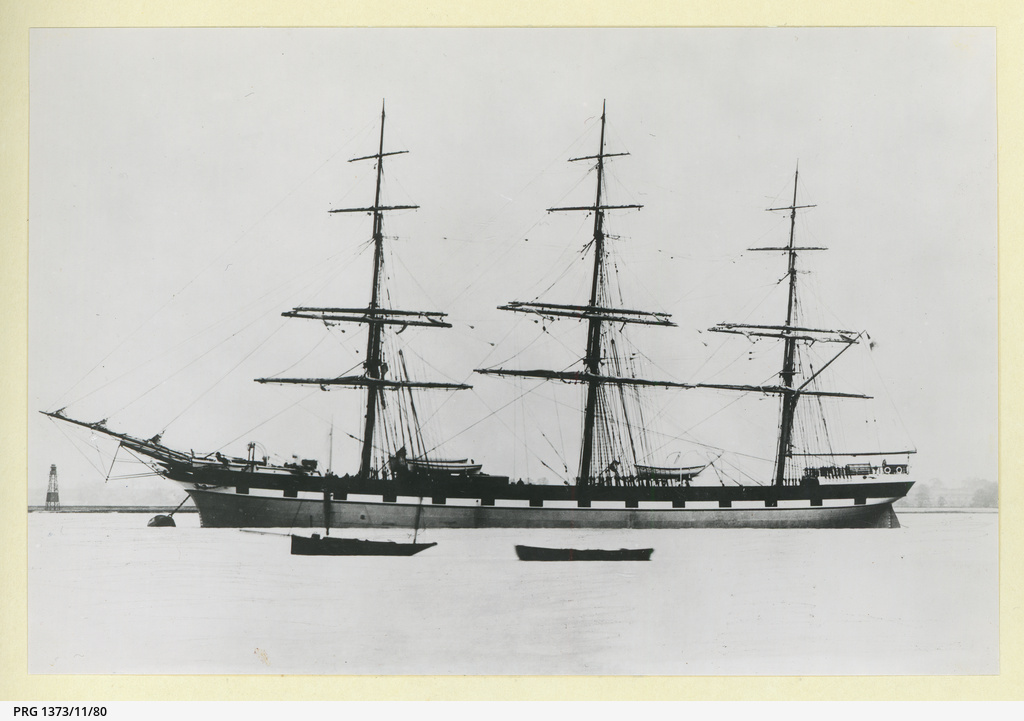 The 'Cape of Good Hope' moored in an unidentified port