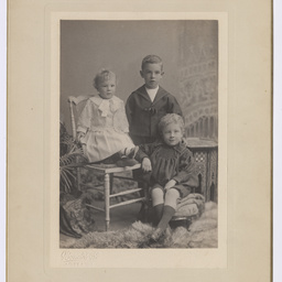 Early photograph of Colin, Keith, and Ross Smith