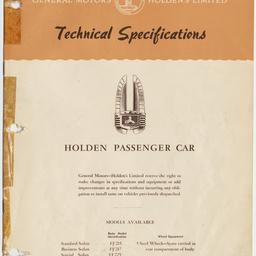 Holden Passenger car, July 1954.