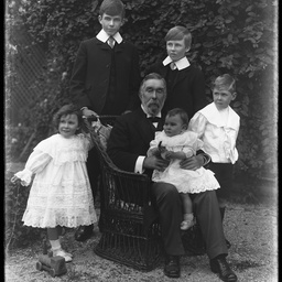 Sir Charles Todd with his grandchildren