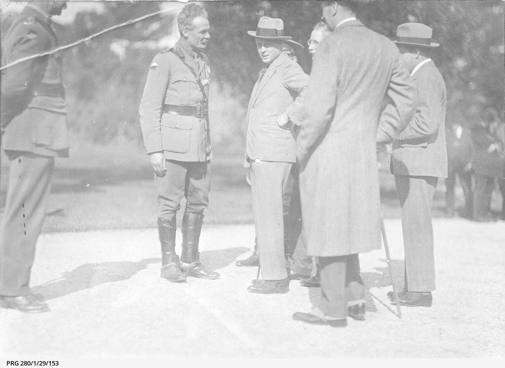Edward, Prince of Wales meeting veteran soldiers