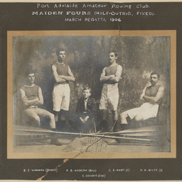 Port Adelaide Rowing Club Maiden Fours, March Regatta 1906