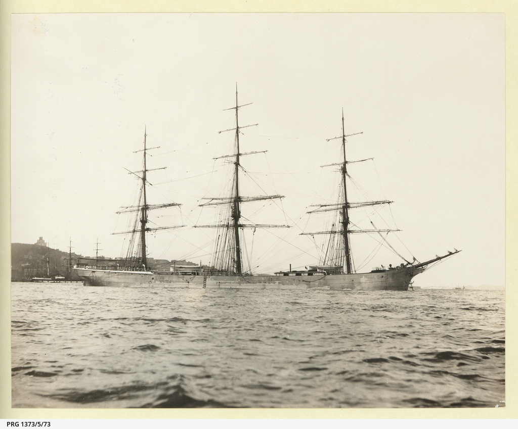 The 'Wayfarer' at anchor