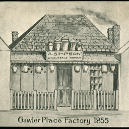 A. Simpson, Tinware Factory in Gawler Place