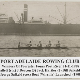 Port Adelaide Rowing Club Forrester Fours