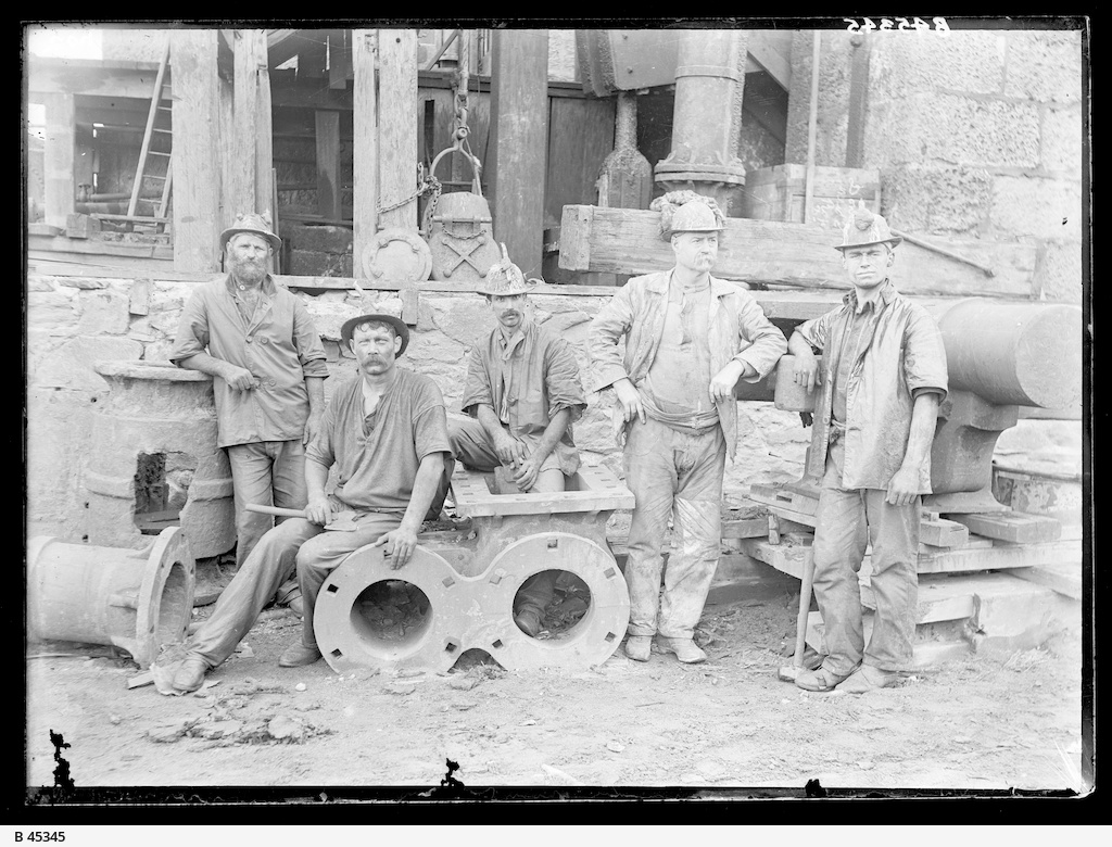 Miners at Wallaroo Mines
