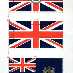 Replica of flags
