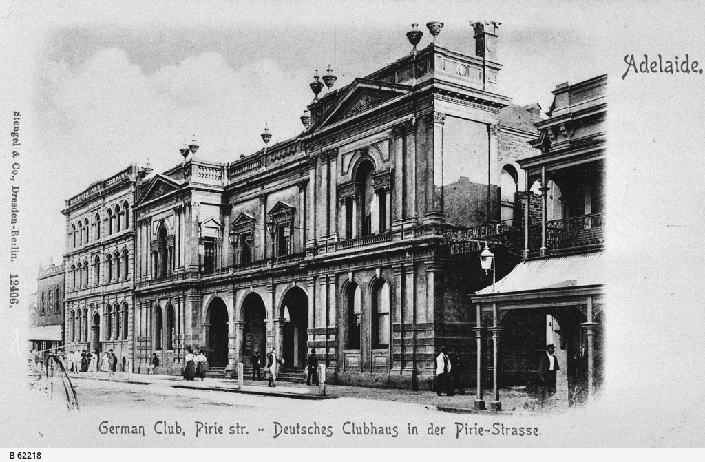 The German Club, Deutsche Klub, in Pirie Street