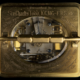 Carriage clock presented to Sir Charles Todd