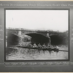 Port Adelaide champion eight oar crew