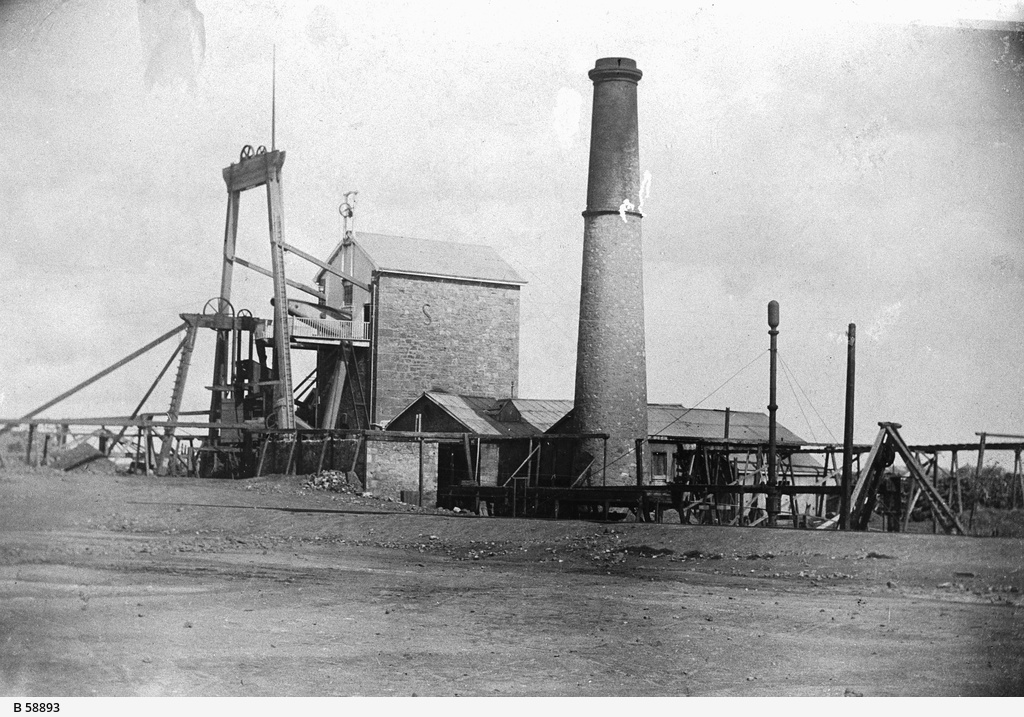 Hughes pumping house at the Moonta Mine