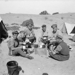 Soldiers at camp.