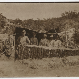 Australian troops in a shelter
