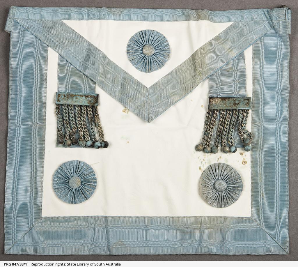 Masonic aprons • Realia • State Library of South Australia