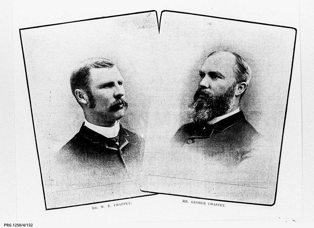 Small portraits of the Chaffey Brothers