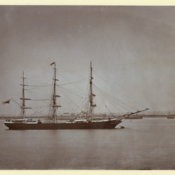 The 'Gainsborough' moored at Gravesend, U.K.