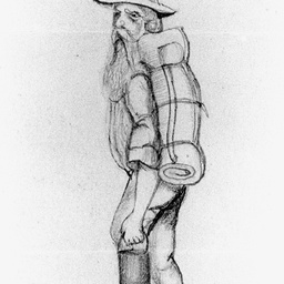 Sketch of a swagman