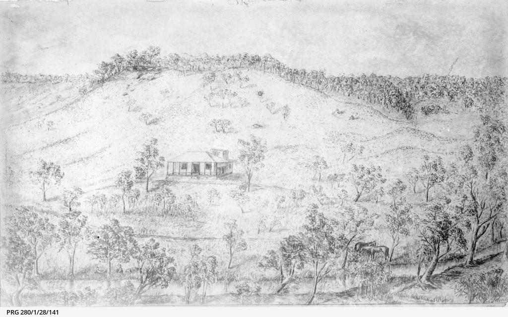 A drawing of Augusta Timber Station, Western Australia