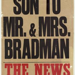 [Son to Mr. & Mrs. Bradman]