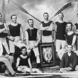 Champion rowing team
