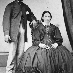 Studio portrait of a man and woman