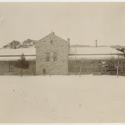 South African house under snow