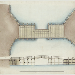 Drawings of a bridge at the entrance of the South Australian Company's Basin, Port Adelaide, South Australia[engineering drawing]/ by F.W. Gilchrist