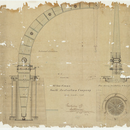 [Drawing of a 25 ton crane manufactured by Fairbairn & Company][engineering drawing]