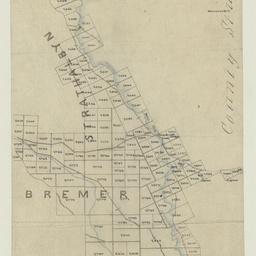 [Tracing showing sections north of Lake Alexandrina to the Bremer River, Hundreds of Bremer and Strathalbyn] [cartographic material]