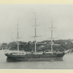 The 'Cimba' anchored at Sydney, NSW