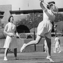 A women's tennis match