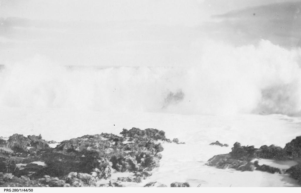 Surf crashing on to rocks