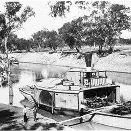 P.S. Bourke on River Darling