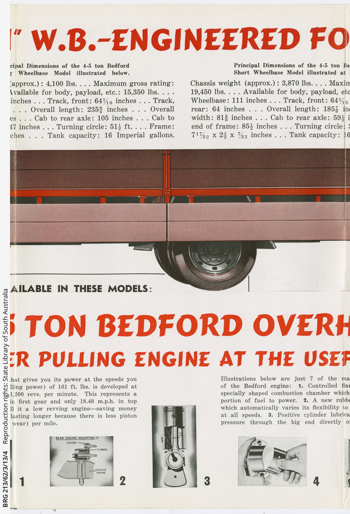 Bedford 4-5 ton truck brochure • Manuscript • State Library of South