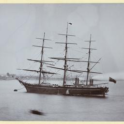 The 'Swiftsure' moored at Gravesend, U.K.