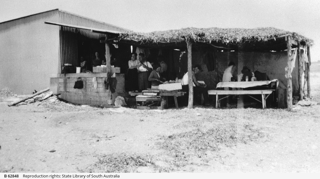 Picnic preparations in the Outback