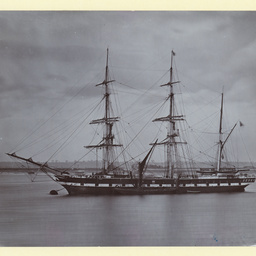 The 'Essex' moored at Gravesend, U.K.