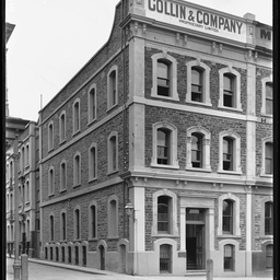 Collin & Company premises on North Terrace near Gresham Street