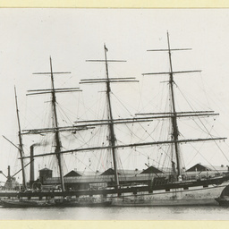 The 'Loch Broom' docked in an unidentified port
