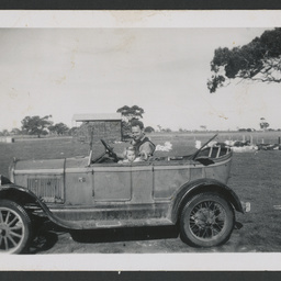 Colin and Ann White in a Model T Ford