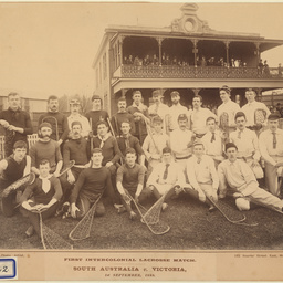 First Intercolonial Lacrosse match