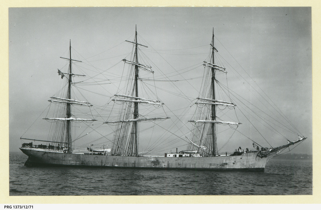 The 'Vincent' at anchor