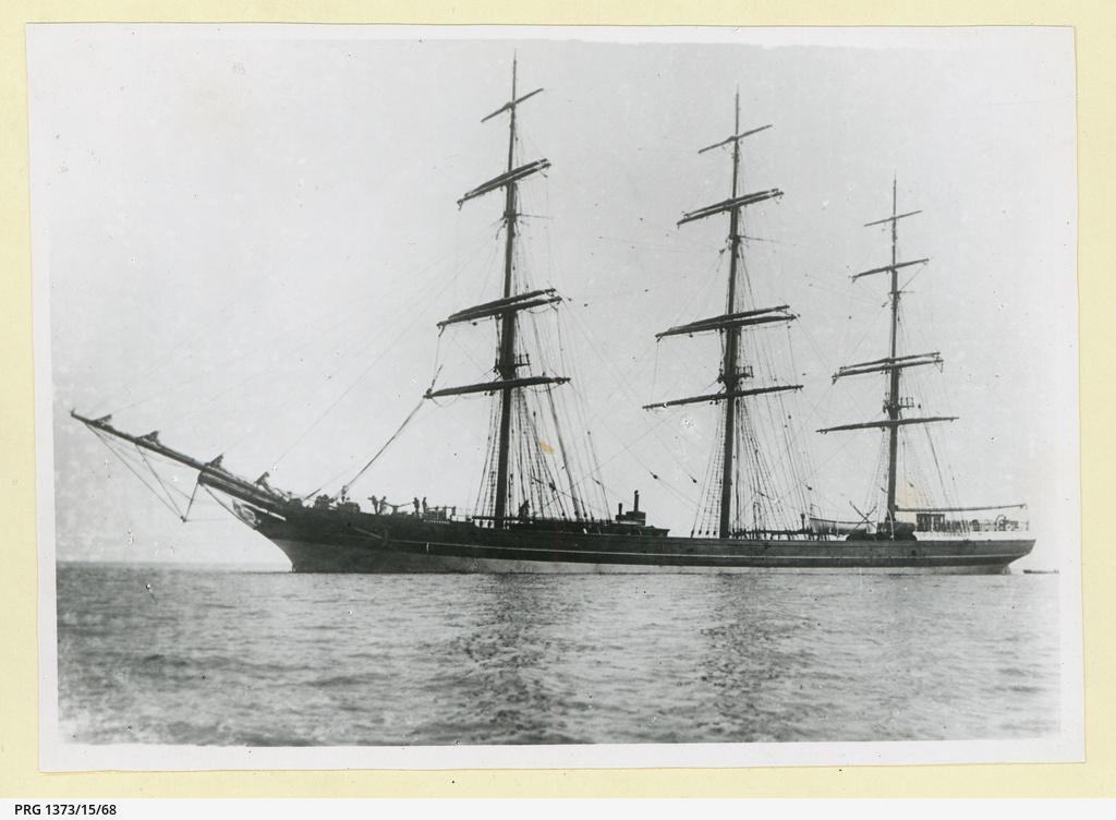 The 'Brambletye' at anchor