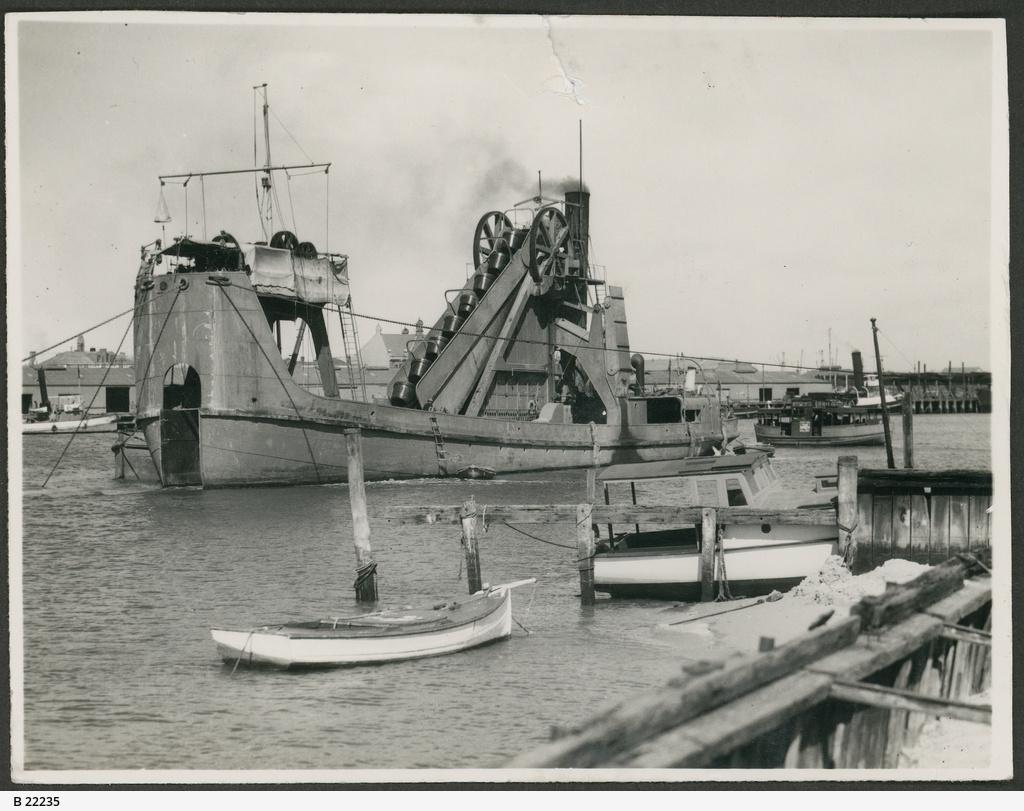 Dredge at Port Adelaide