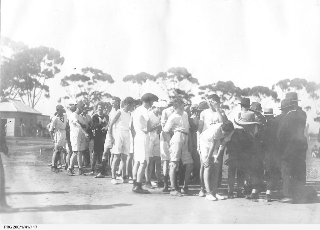 Athletes lining up for a race